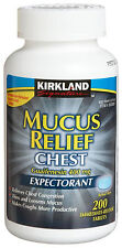 200 Kirkland MUCUS RELIEF CHEST Tablets EXPECTORANT Guaifenesin 400mg Mucinex