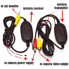2.4Ghz Wireless Rear View Video Transmitter Receiver For Car Camera Cam Monitor
