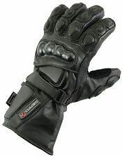 XL Leather Gloves Motorcycle Motorbike Waterproof Thermal Mittens