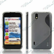 CUSTODIA COVER COVER TPU S SILICONE GEL ARGENTO GRIGIO + CINEMA LG OPTIMUS P970