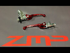 SUZUKI LTR 450 06 - 09 F3 ASV CLUTCH AND BRAKE LEVERS RED PAIR PACK