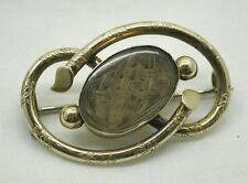 Early Victorian Gold Cased Mourning Locket Brooch