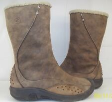 KEEN 0808 Womens US8.5 EU 39 UK 6 Brown Suede Side-Zip Ankle Snow Winter Boots