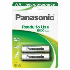 2x Panasonic Ready to Use rechargeable Mignon AA HR6 Battery 1900 mAh Ni-MH
