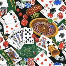 Nutex MONTE CARLO - casino gambling fabric roulette wheels, poker chips, cards