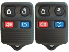 PAIR FORD VEHICLES NEW 4-BUTTON KEYLESS ENTRY REMOTE FOB (2-r12fx-dap-gtc)