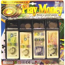 Kids Play Money till set Toy Coin Notes Pounds Penny Children Pretend Play Cash