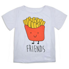 Top Selling Fries Summer Vest Top Blouse Casual Tank Tops Best Friend T-Shirt