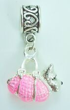 3D West Highland Terrier Slider Dangle Charm fits European Bracelet Or Necklace
