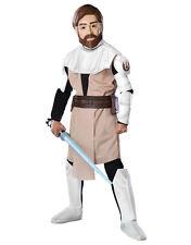 """Star Wars Kids Clone Wars Obi Wan Costume S2 , L,Age 8-10, HEIGHT 4' 8""""- 5'"""