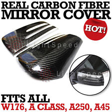 BENZ AMG W176 S250 A45 A CLASS CARBON SIDE DOOR WING MIRROR COVER - 2012 upwards