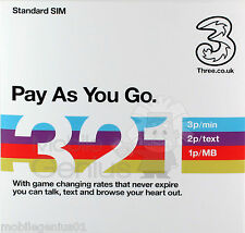 3 Mobile PAYG SIM Voice, NEW 3,2,1 plan with game changing rates