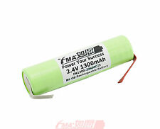 Shaver Razor Rechargeable Battery Ni-Cd 2.4V 1300mAh Sanyo Cell 23x70mm Tab 2SL