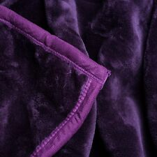 Soft Heavy Weighted Thick Purple Plush Mink Autism Sensory Blanket 8 Pound lb