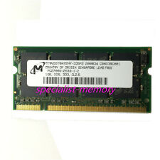 New Micron 1GB DDR-333MHZ PC2700 Laptop Memory 200-pin CL2.5  Low Density
