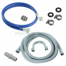 Hotpoint Washing Machine Fill Water Pipe & Outlet Drain Waste Hose Kit 2.5m Long