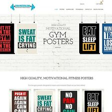 Gym-POSTER. COM-sito web internet business per la vendita POSTER Design fitness palestra