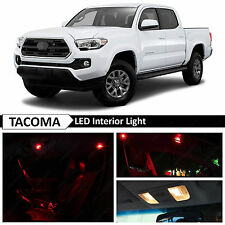 12x 2016-2017 Toyota Tacoma Red Interior LED Lights Package Kit