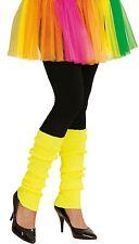 80er Beinstulpen neon-gelb NEU - Zubehör Accessoire Karneval Fasching