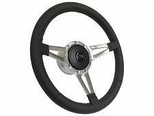 1969 - 1994 9 Bolt Black Steering Wheel Kit w/Hub, Blue Chevy Bow Tie Emblem
