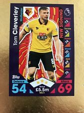 Match Attax Extra 16/17 Watford #NS21 Tom Cleverley-New Signing Card