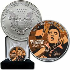 ESTADOS UNIDOS LIBERTY SILVER USA DOLLARS DOLAR PLATA ELVIS PRESLEY all right