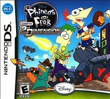NEW Nintendo DS Disney Phineas and Ferb Across the 2nd Dimension Free Shipping !
