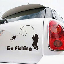 2x Styling Car Stickers Go Fishing Outdoor for Car Accessories Decoration SK