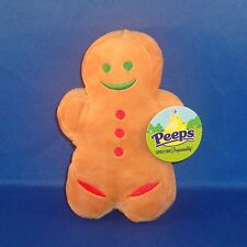 Peeps - Gingerbread Man - Christmas Bean Bag Plush - NEW