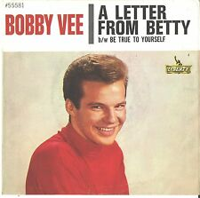 BOBBY VEE--PICTURE SLEEVE + 45--(A LETTER FROM BETTY)-PS--PIC--SLV