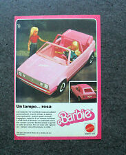 K922-Advertising Pubblicità-1984- BARBIE , MATTEL , UN LAMPO ROSA GOLF VW BARBIE