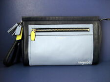 NWT Coach Legacy Color block Leather Large Clutch Wristlet 48002 Multi Blue/Navy
