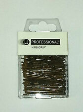 PROFESSIONAL HAIRDRESSING BROWN HAIR GRIPS WAVED 4.5CM X 100 NEW