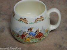 ROYAL DOULTON BUNNYKINS MUG RACING & CRICKET DESIGNED BY BARBARA VERNON