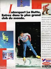 Publicité advertising 1987 Les magasins de sport La Hutte Intersport...Ski