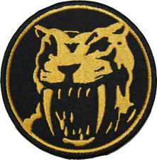 Yellow Power Ranger Patch Embroidered Badge Mighty Morphin Costume Tiger Cosplay