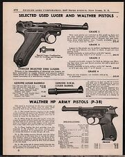 1949 STOEGER LUGER & WALTHER HP Army Pistol AD