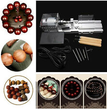 24V 80W Mini Lathe Beads Polisher Machine Woodworking Wood DIY Rotary Tool Set