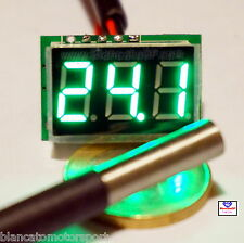 MINI TERMOMETRO DIGITALE -55~125℃ LED VERDE DS18B20 waterproof auto moto camper