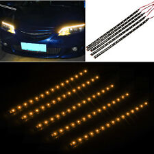 5 x 15 LED 12V 30cm Car Motor Vehicle Flexible Waterproof Strip Light Orange