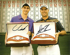 Stewart & Connor Cink Hand Signed 8x10 Photo PGA Autograph Father Son Golf