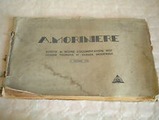 Vintage Catalogue A.Moriniere Industrial and touristes chassis additional 1937