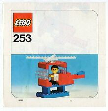 Lego 253-2: Helicopter and pilot  NOTICE/ INSTRUCTIONS BOOKLET / BAUANLEITUNG