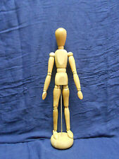 "ARTICULATED 13"" WOOD JOINTED MAN ARTIST TOOL MODEL HUMAN FIGURE MANNEQUIN +STAND"