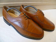 Vtg Loake Shoemaker cuir complet derby uk 8 42 marron clair Fontwell lacets * large