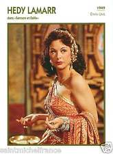 1.HEDY LAMARR ACTRICE ACTRESS FICHE CINEMA USA 90s