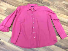 Lands End Womens 18 Pretty Pink Classic Button Up Top Shirt Clothes