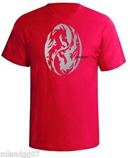 Ying Yang Symbol Silver Logo T-Shirt Asian Dragon S-5XL