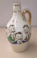 VTG Le Pere Pottery Quartet Whiskey Jug Bottle Pitcher Decanter 1930's Moustache