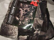 Nwt The Sons Of Anarchy Fight Brawl Biker Gang Club Plush Fleece Throw Blanket